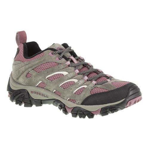 Womens Merrell Moab Ventilator Hiking Shoe - Boulder/Blush 7.5