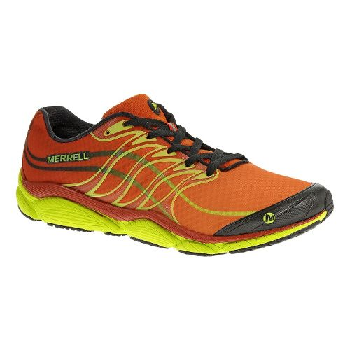 Mens Merrell AllOut Flash Running Shoe - Red/Yellow 7