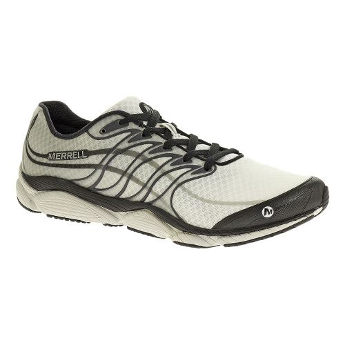 Mens Merrell AllOut Flash Running Shoe - White/Black 11.5