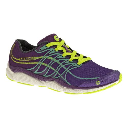 Womens Merrell AllOut Flash Running Shoe - Blue/Lime 6.5