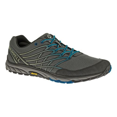 Mens Merrell Bare Access Trail Running Shoe - Granite/Blue 9.5