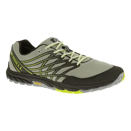 Mens Merrell Bare Access Trail Trail Running Shoe - Ice/Lime 10.5
