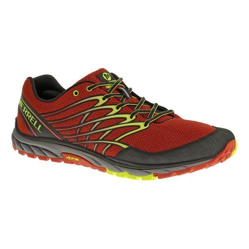 Mens Merrell Bare Access Trail Trail Running Shoe - Molten Lava 10