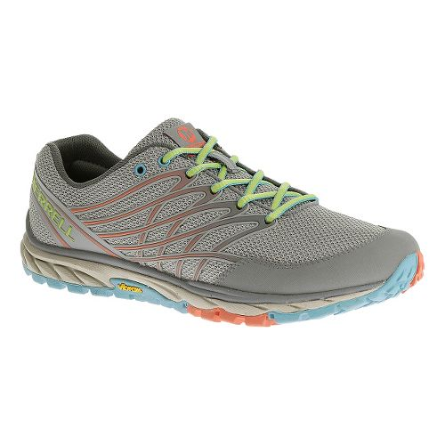 Womens Merrell Bare Access Trail Trail Running Shoe - Light Grey 5