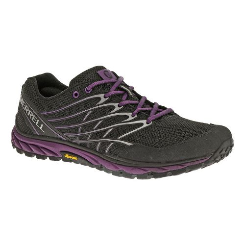 Womens Merrell Bare Access Trail Trail Running Shoe - Black/Purple 6.5