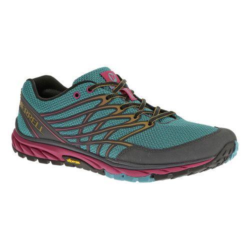 Womens Merrell Bare Access Trail Running Shoe - Blue/Gold 7.5