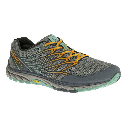 Womens Merrell Bare Access Trail Trail Running Shoe - Monument/Flame 6.5
