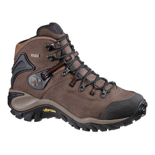Mens Merrell Phaser Peak Waterproof Hiking Shoe - Dark Brown 7
