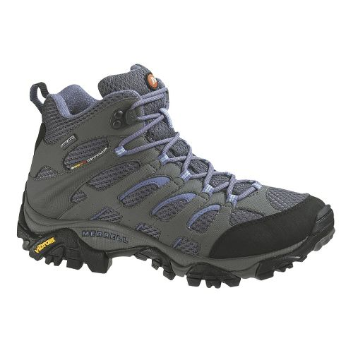Womens Merrell Moab Mid GORE-TEX Hiking Shoe - Grey/Periwinkle 10.5