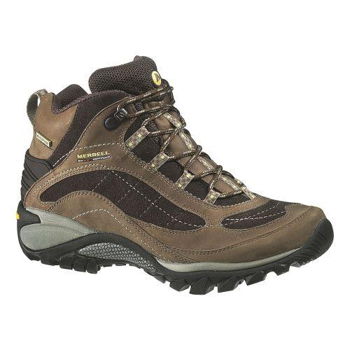 Womens Merrell Siren Waterproof Mid Leather Hiking Shoe - Castlerock/Blue 9.5