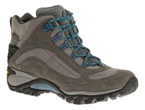 Womens Merrell Siren Waterproof Mid Leather Hiking Shoe - Castlerock/Blue 9