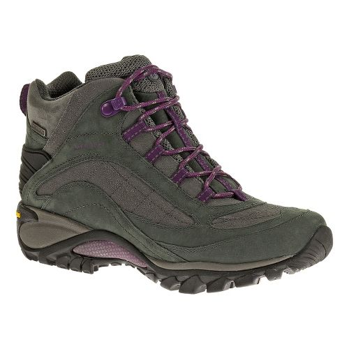 Womens Merrell Siren Waterproof Mid Leather Hiking Shoe - Granite 11