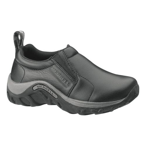 Kids Merrell Jungle Moc Leather Casual Shoe - Black 1Y