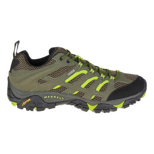 Mens Merrell Moab Waterproof Hiking Shoe - Dusty Olive/Black 8.5