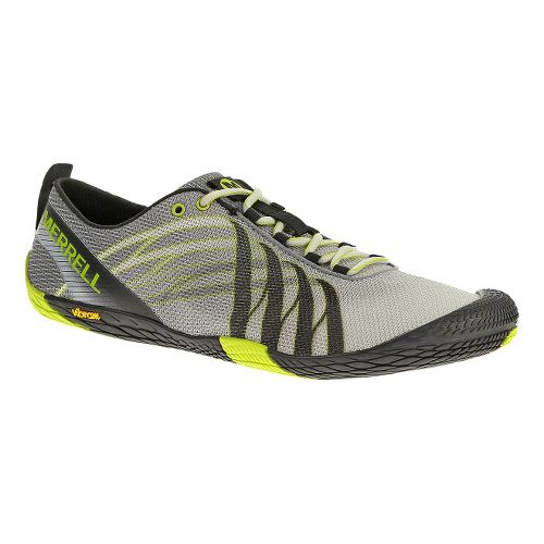 Mens Merrell Vapor Glove Running Shoe - White/Lime 10.5