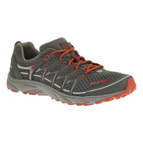Mens Merrell Mix Master Move Trail Running Shoe - Grey/Red 9