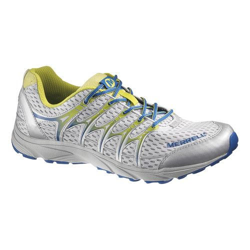 Mens Merrell Mix Master Move Trail Running Shoe - White/Silver 14