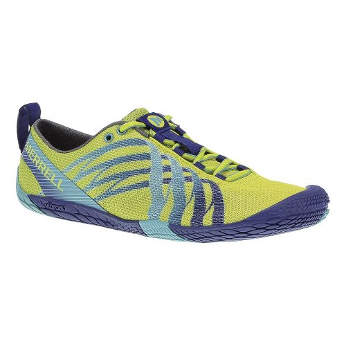 Womens Merrell Vapor Glove Running Shoe - High Viz/Blue 10