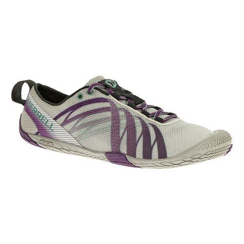 Womens Merrell Vapor Glove Running Shoe - White/Purple 5