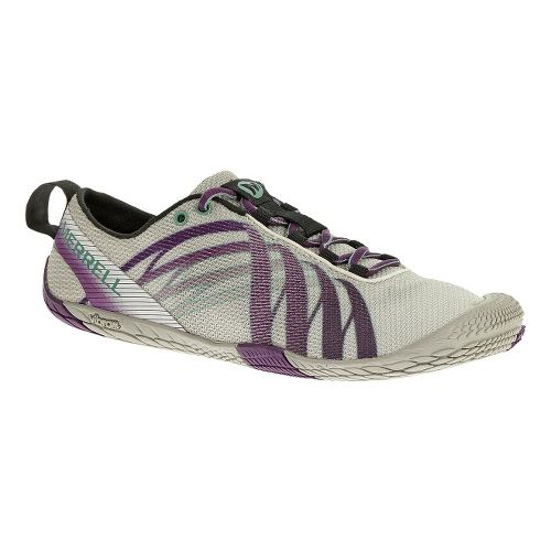 Womens Merrell Vapor Glove Running Shoe - White/Purple 8.5