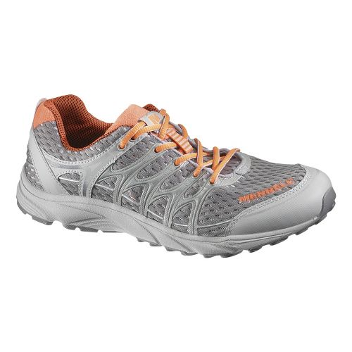 Womens Merrell Mix Master Move Glide Running Shoe - Silver/Orange 5
