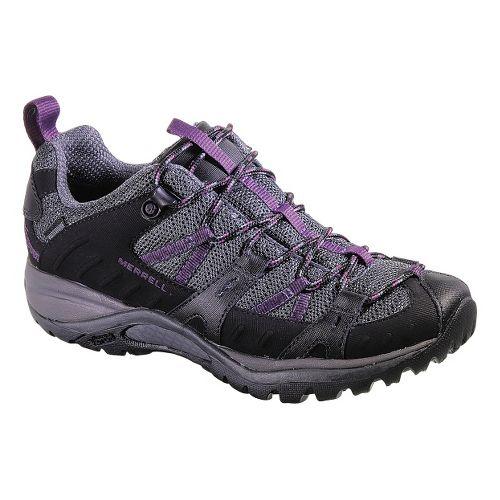 Womens Merrell Siren Sport 2 Waterproof Hiking Shoe - Black/Damson 10.5