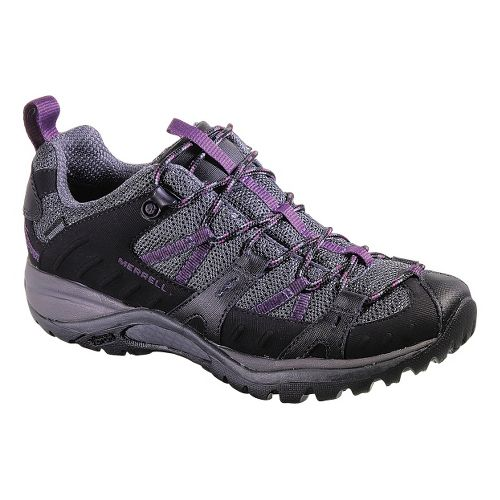 Womens Merrell Siren Sport 2 Waterproof Hiking Shoe - Black/Damson 5.5