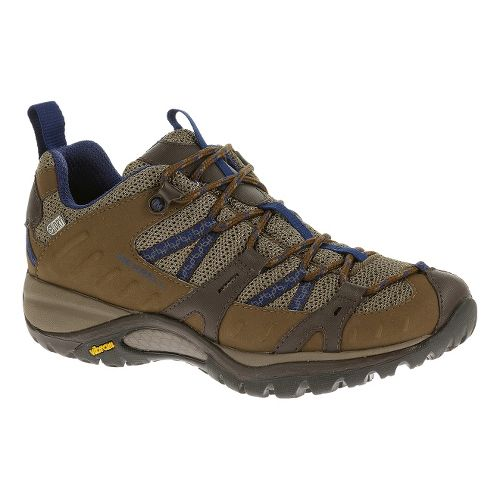 Womens Merrell Siren Sport 2 Waterproof Hiking Shoe - Merrell Stone/Blue 7.5