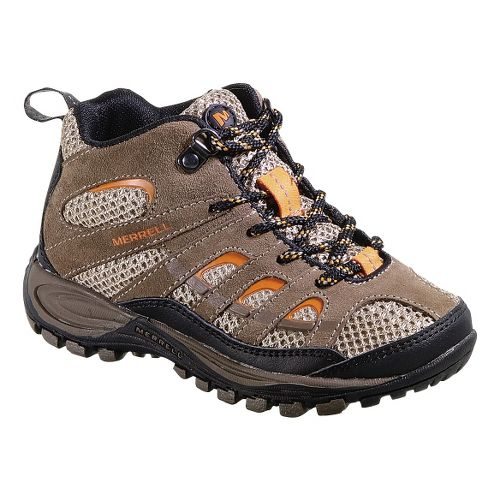 Kids Merrell Chameleon 4 Mid Ventilator Hiking Shoe - Walnut 12