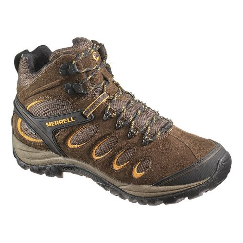 Mens Merrell Chameleon 5 Mid Ventilator Waterproof Hiking Shoe - Black Slate 15