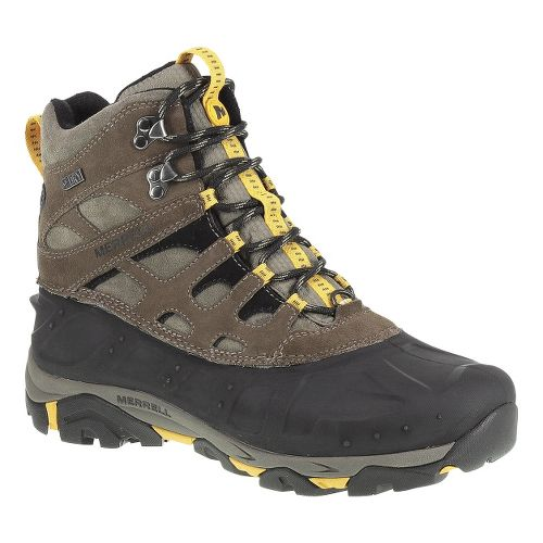 Mens Merrell Moab Polar Waterproof Hiking Shoe - Merrell Stone 9