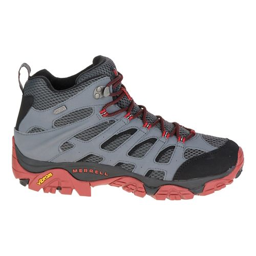 Mens Merrell Moab Mid Waterproof Hiking Shoe - Castle Rock/Black 10