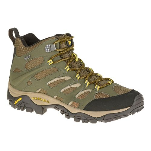 Mens Merrell Moab Mid Waterproof Hiking Shoe - Olive 8.5