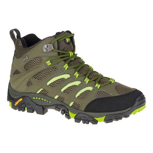 Mens Merrell Moab Mid Waterproof Hiking Shoe - Dusty Olive/Black 10