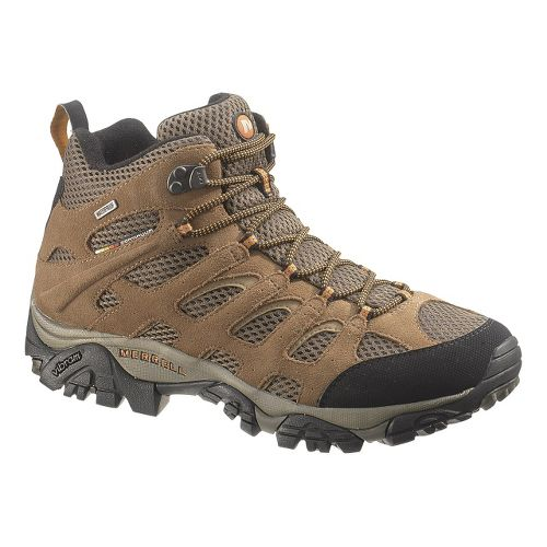 Mens Merrell Moab Mid Waterproof Hiking Shoe - Earth 9