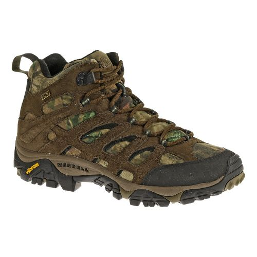 Mens Merrell Moab Mid Waterproof Hiking Shoe - Mossy Oak 10