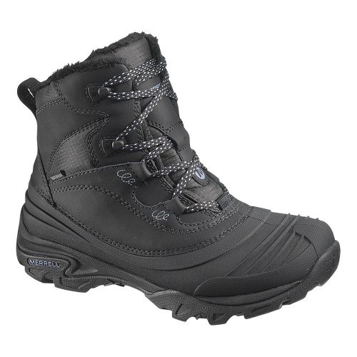 Womens Merrell Snowbound Mid Waterproof Hiking Shoe - Black 8.5