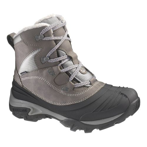 Womens Merrell Snowbound Mid Waterproof Hiking Shoe - Charcoal 10