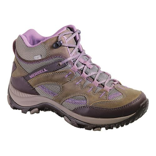 Womens Merrell Salida Mid Waterproof Hiking Shoe - Brindle 5