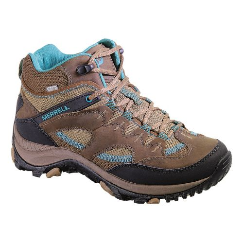 Womens Merrell Salida Mid Waterproof Hiking Shoe - Dark Earth 10.5