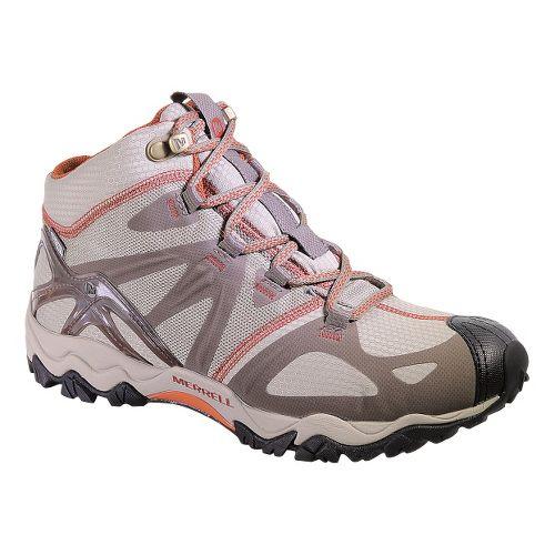 Womens Merrell Grasshopper Sport Mid Waterproof Hiking Shoe - Brindle 10