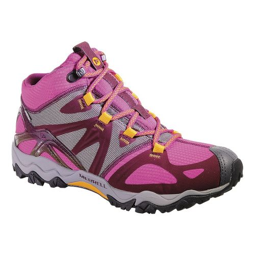 Womens Merrell Grasshopper Sport Mid Waterproof Hiking Shoe - Wine 10.5