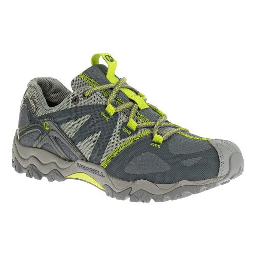 Womens Merrell Grasshopper Sport Waterproof Hiking Shoe - Dark Slate/Lime 5