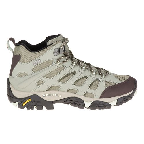 Womens Merrell Moab Mid Waterproof Hiking Shoe - Granite 7.5