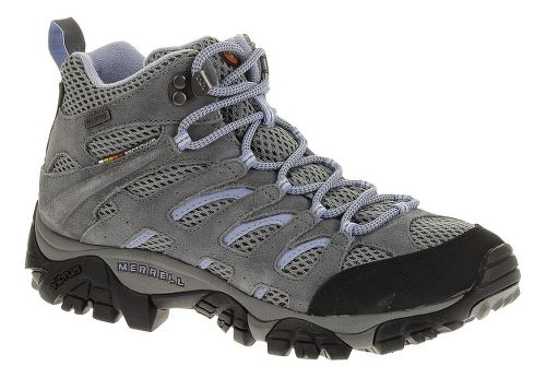 Womens Merrell Moab Mid Waterproof Hiking Shoe - Grey/Periwinkle 6