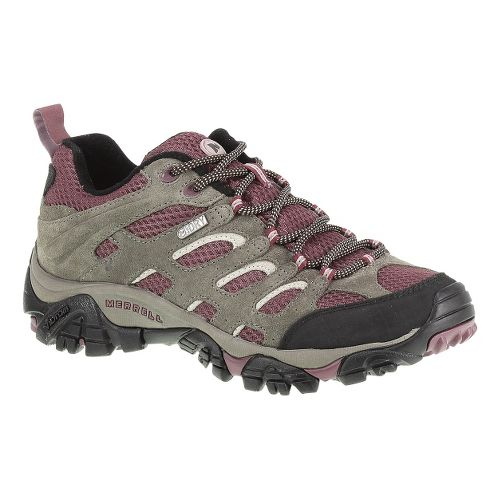 Womens Merrell Moab Waterproof Hiking Shoe - Boulder/Blush 10.5