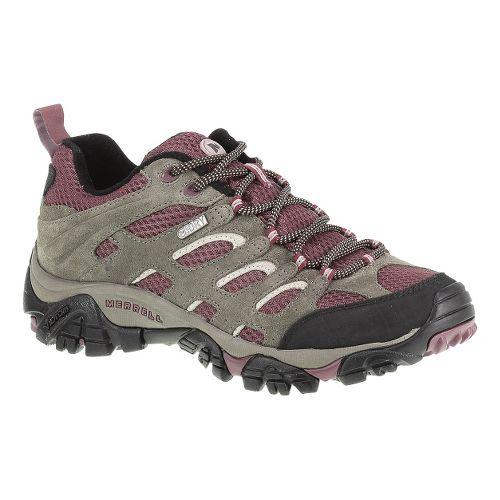 Womens Merrell Moab Waterproof Hiking Shoe - Boulder/Blush 5.5