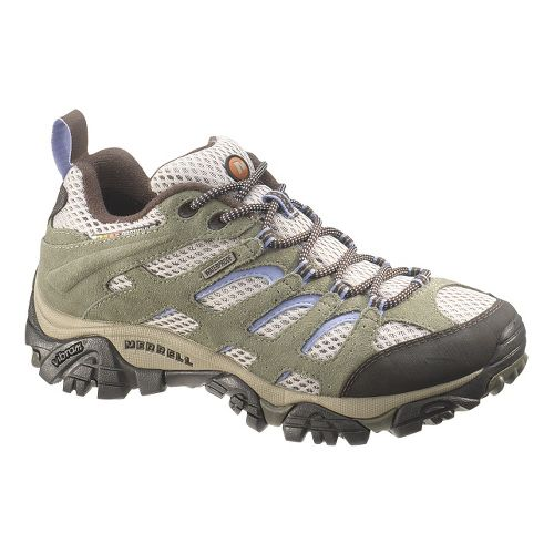 Womens Merrell Moab Waterproof Hiking Shoe - Dusty Olive 6.5