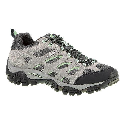 Womens Merrell Moab Waterproof Hiking Shoe - Drizzle/Mint 10.5