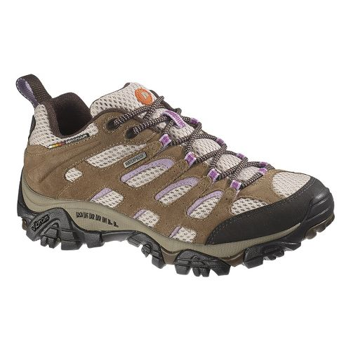 Womens Merrell Moab Waterproof Hiking Shoe - Earth/Orchid 5.5